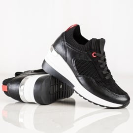SHELOVET Wsuwane Sneakersy Z Siateczką czarne 3