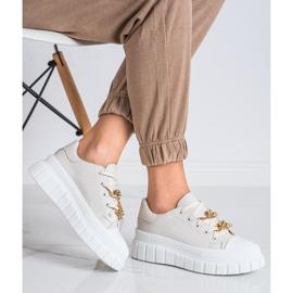 SHELOVET Sneakersy Z Łańcuchem Fashion beżowy 1