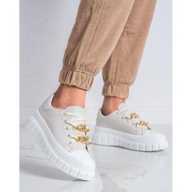 SHELOVET Sneakersy Z Łańcuchem Fashion beżowy 2