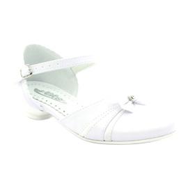 Czółenka balerinki komunijne Miko 702 białe 1