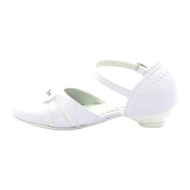Czółenka balerinki komunijne Miko 702 białe 2