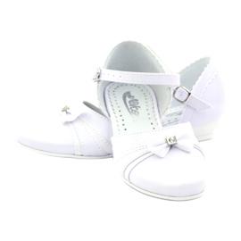 Czółenka balerinki komunijne Miko 702 białe 3