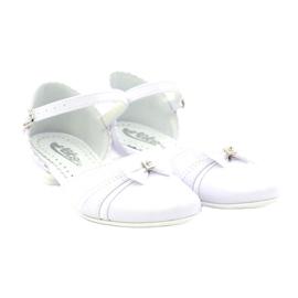 Czółenka balerinki komunijne Miko 702 białe 4
