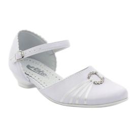 Czółenka balerinki komunijne Miko 710 białe 1