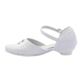 Czółenka balerinki komunijne Miko 710 białe 2