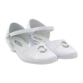 Czółenka balerinki komunijne Miko 710 białe 4
