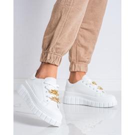 SHELOVET Sneakersy Z Łańcuchem Fashion białe 4