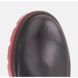 Marco Shoes Kozaki na traperze z regularną cholewką czarne 3