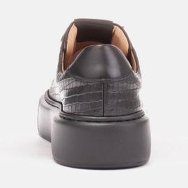 Marco Shoes Lekkie sneakersy ze skóry typu nappa czarne 3
