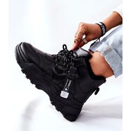 PE1 Damskie Ocieplane Sneakersy Śniegowce Czarne Kaphia 2