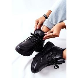 PE1 Damskie Ocieplane Sneakersy Śniegowce Czarne Kaphia 1