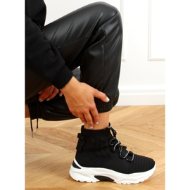 Buty sportowe skarpetkowe czarne 2032 Black 4