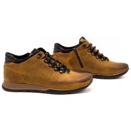 Olivier Buty męskie trzewiki skórzane 920MP rude brązowe żółte 5