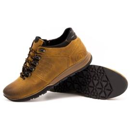 Olivier Buty męskie trzewiki skórzane 920MP rude brązowe żółte 6