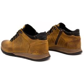 Olivier Buty męskie trzewiki skórzane 920MP rude brązowe żółte 10