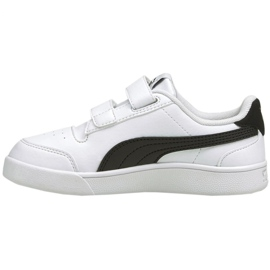 Buty Puma Shuffle V Ps Jr 375689 02 białe czarne 2