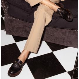 Marco Shoes Mokasyny ze złotym łańcuchem na lekkiej podeszwie czarne 1