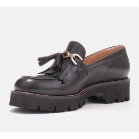 Marco Shoes Mokasyny ze złotym łańcuchem na lekkiej podeszwie czarne 4