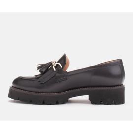 Marco Shoes Mokasyny ze złotym łańcuchem na lekkiej podeszwie czarne 5