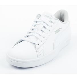 Buty Puma Smash V2 Jr 365170 02 białe niebieskie 1