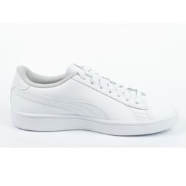 Buty Puma Smash V2 Jr 365170 02 białe niebieskie 3