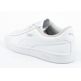 Buty Puma Smash V2 Jr 365170 02 białe niebieskie 4