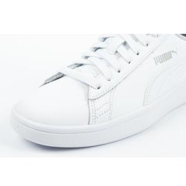 Buty Puma Smash V2 Jr 365170 02 białe niebieskie 5
