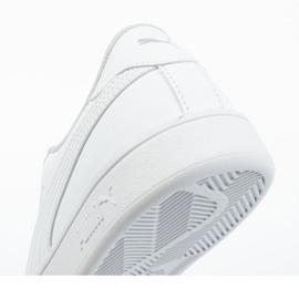 Buty Puma Smash V2 Jr 365170 02 białe niebieskie 6