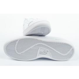 Buty Puma Smash V2 Jr 365170 02 białe niebieskie 8