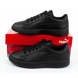 Buty Puma Smash V2 Jr 365324 01 czarne niebieskie 9
