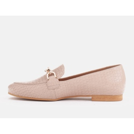 Marco Shoes Baleriny ze złotym łańcuchem beżowy 2
