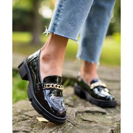 Goodin Czarne Mokasyny Fashion 7