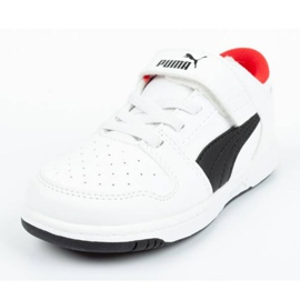 Buty Puma Rebound Jr 370493 01 białe czarne 1