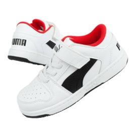 Buty Puma Rebound Jr 370493 01 białe czarne 2