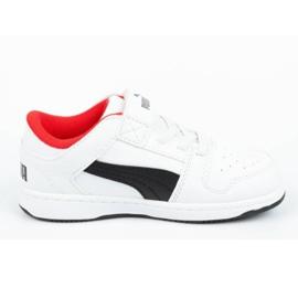 Buty Puma Rebound Jr 370493 01 białe czarne 3