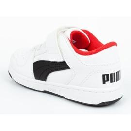 Buty Puma Rebound Jr 370493 01 białe czarne 4