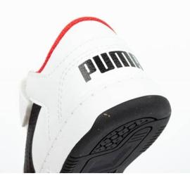 Buty Puma Rebound Jr 370493 01 białe czarne 6