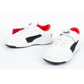 Buty Puma Rebound Jr 370493 01 białe czarne 7