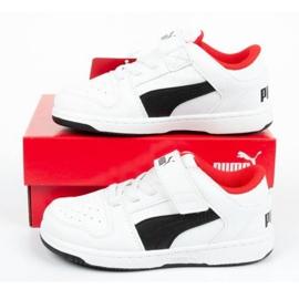 Buty Puma Rebound Jr 370493 01 białe czarne 9