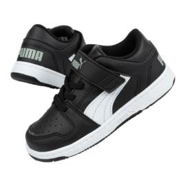Buty Puma Rebound Jr 370493 02 czarne 2