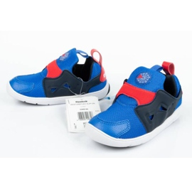 Buty Reebok Ventureflex Slip-on Jr CM9144 czarne niebieskie 5