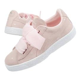 Buty Puma Suede Heart Jr 365136 03 różowe 2