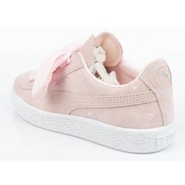 Buty Puma Suede Heart Jr 365136 03 różowe 4
