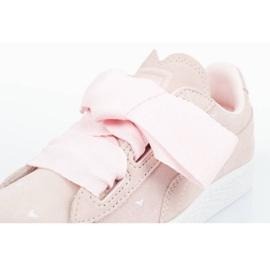 Buty Puma Suede Heart Jr 365136 03 różowe 5