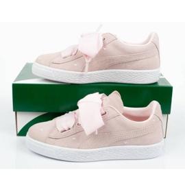 Buty Puma Suede Heart Jr 365136 03 różowe 9