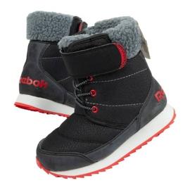 Buty, śniegowce Reebok Snow Prime Jr AR2710 czarne niebieskie 2