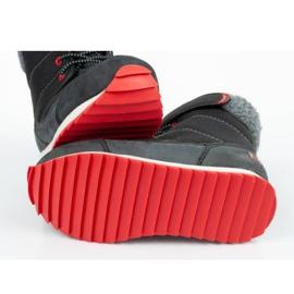 Buty, śniegowce Reebok Snow Prime Jr AR2710 czarne niebieskie 8