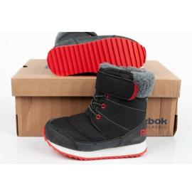 Buty, śniegowce Reebok Snow Prime Jr AR2710 czarne niebieskie 9