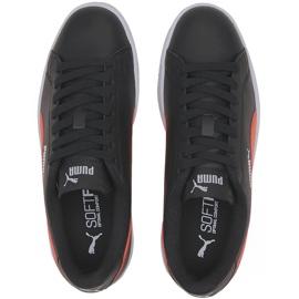 Buty Puma Smash v2 L Jr 365170 22 czarne pomarańczowe 1