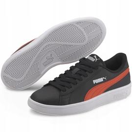 Buty Puma Smash v2 L Jr 365170 22 czarne pomarańczowe 3